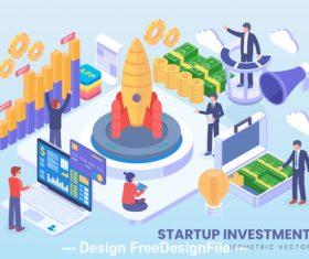 Startup investment vector concept