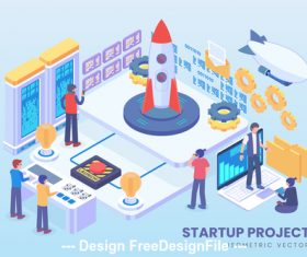 Startup project vector concept