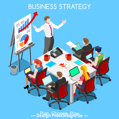 Strategy plan choose play vector