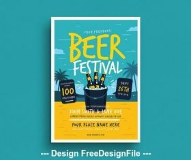 Summer beer festival flyer vector