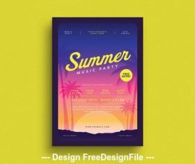 Summer party flyer vector