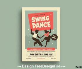Swing dance event flyer vector