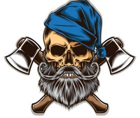 Tattoo skull logo vector