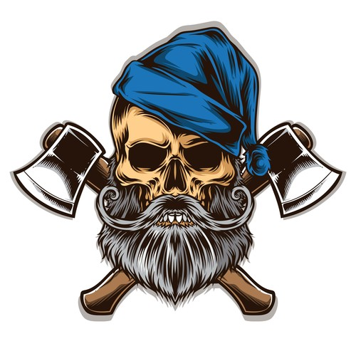 Tattoo skull logo vector