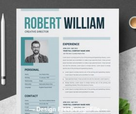Teal resume vector