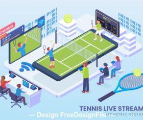 Tennis live vector concept