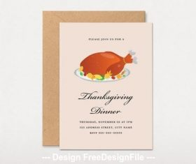 Thanksgiving dinner invitation vector