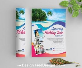 Tourist attraction flyer vector