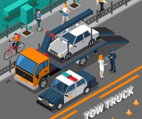Traffic violation cartoon background vector