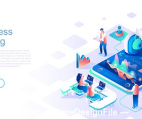 Training business flat concept vector