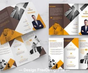 Trifold brochure orange vector