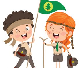 Two scout kids vector