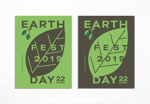 Typographic design for earth day vector