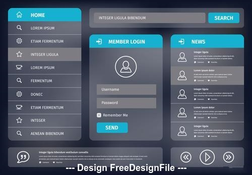 User interface layout vector
