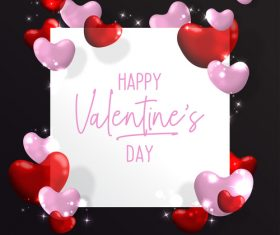 Valentines Day romantic decorative background  vector