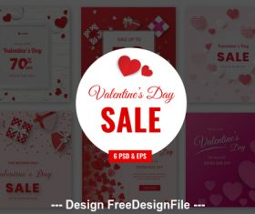 Valentines Sale PSD Template Set