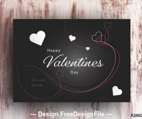 Valentines day card with white accents vector