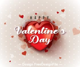 Valentines day happy greeting card vector vector