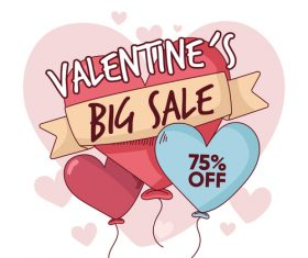 Valentines day sale poster vector