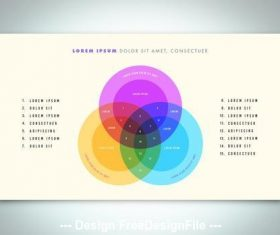 Venn diagram infographic vector