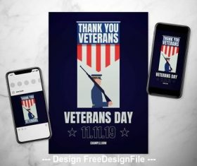 Veterans day event flyer vector