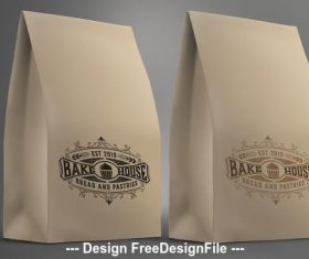 Vintage bakery logo vector