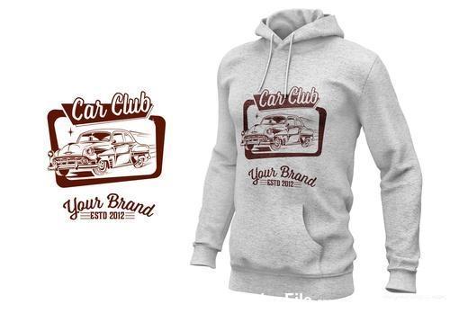 Vintage car logo card vector