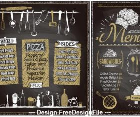 Vintage menu template vector