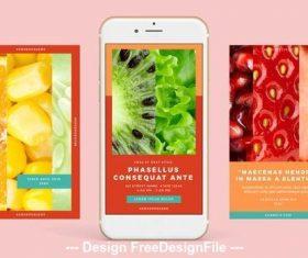 Warm palette Instagram-compatible vector