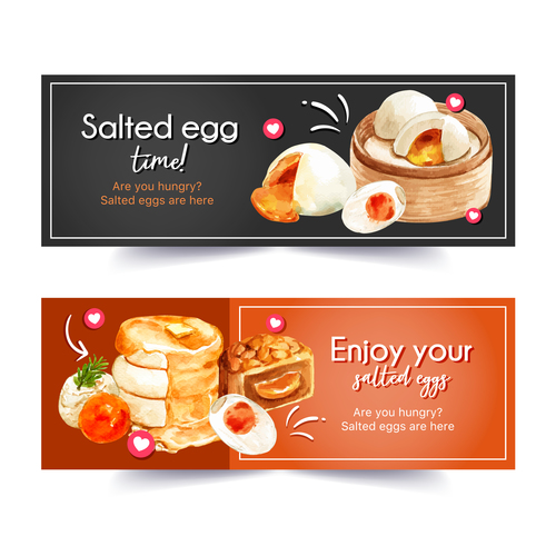 Watercolor pastry poster vector