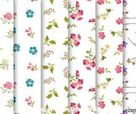 Watercolor patterns set vector
