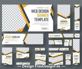 Web banner layout vector