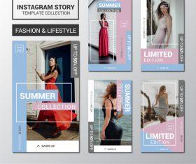 Women clothing summer collection design templates vector