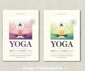 Yoga flyer layout vector