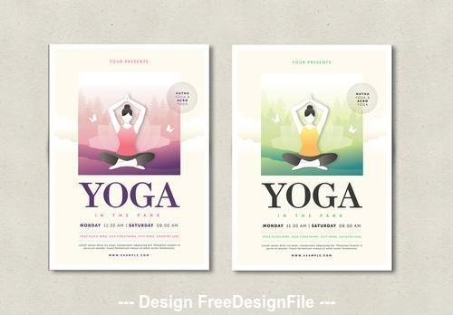 Yoga flyer layout vector