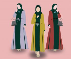 Abaya Fashion vector