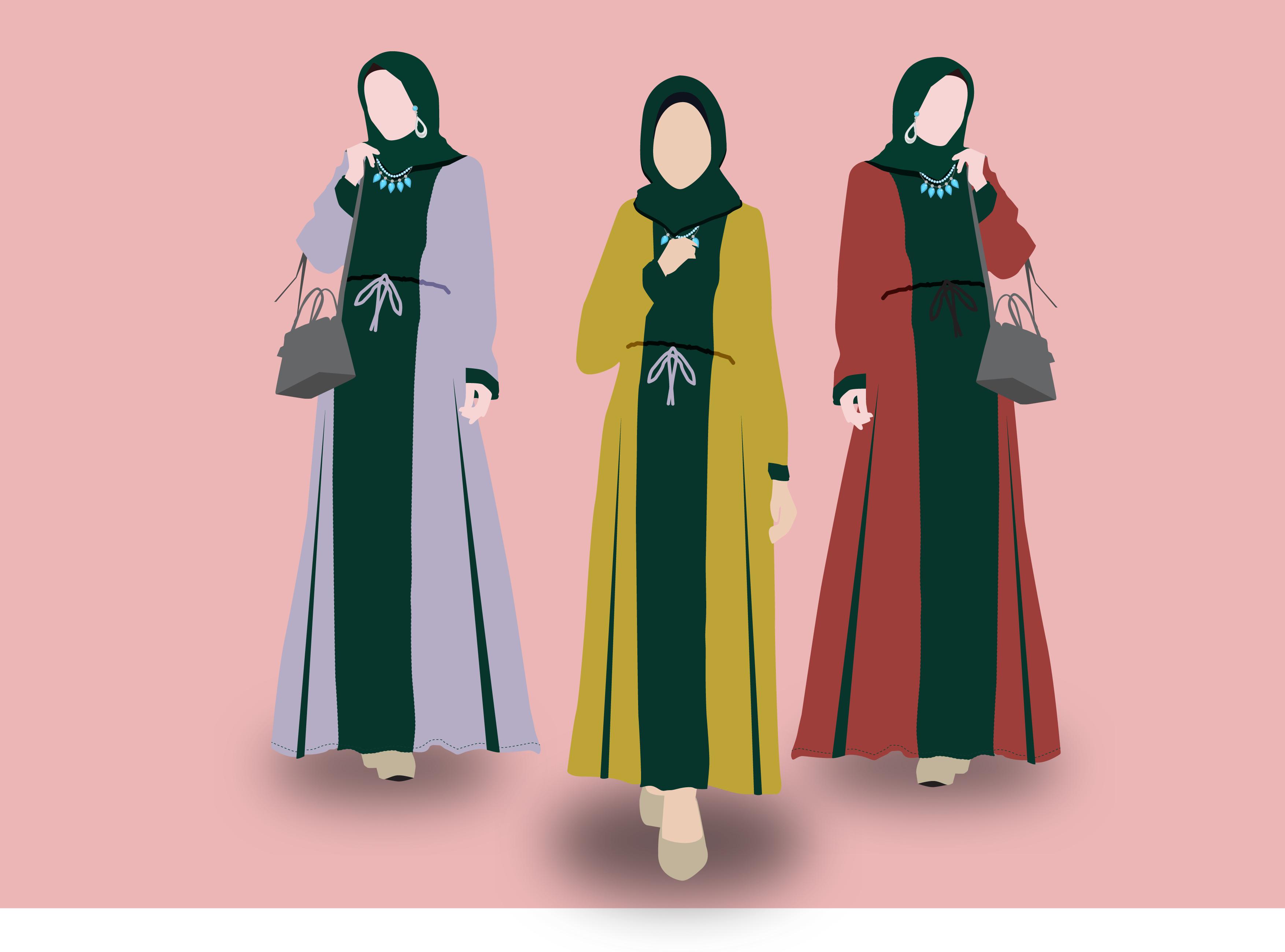 Abaya Fashion vector