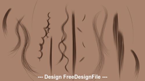 13 kind Hair Photoshop Brushes