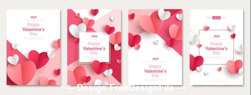 2020 Valentines day template vector
