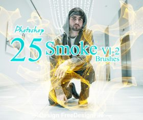 25 Kind Smoke Photoshop Brushes