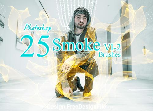 25 Kind Smoke Photoshop Brushes