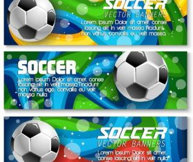 3 Kind soccer banners vector