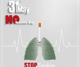 31st May world No tobacco poster vector