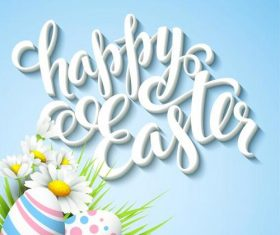3D font Easter greeting card vector