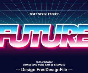 3d font effect editable text vector