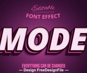 3d mode font text effect vector