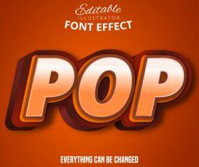 3d pop font text effect vector