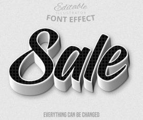 3d sale font text effect vector