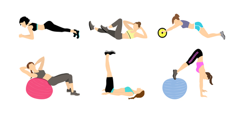 Abdominal exercise icon vector
