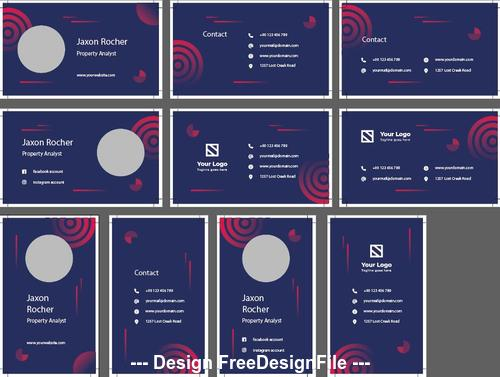 Abstract Shape Property Business Card Psd Template